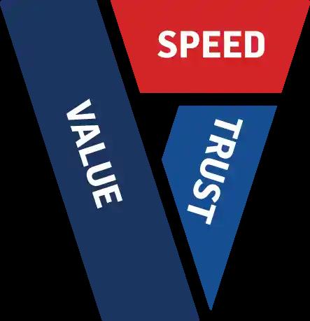 Speed, Value & Trust